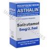 Asthalin Nebuliser Solution (Salbutamol) - 5mg (20 x 2.5mL Ampoules)