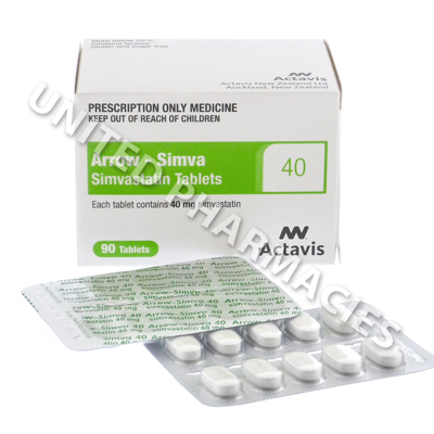 Arrow-Simva (Simvastatin) - 40mg (90 Tablets)