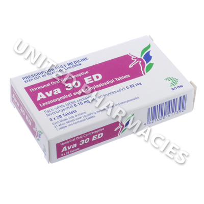 Ava 30 ED (Levonorgestrel/Ethinyloestradiol) - 0.15mg/0.03mg (84 Tablets)
