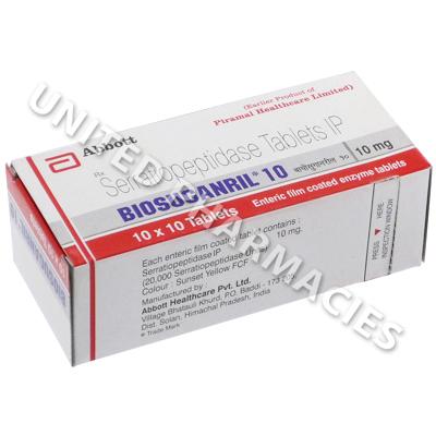 Serratiopeptidase medicine / Milk thistle results