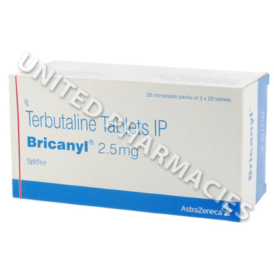 Bricanyl (Terbutaline) - 2.5mg (20 Tablets) :: Asthma