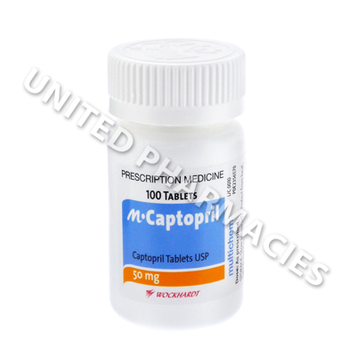 Captopril (Captopril) - 50mg (100 Tablets)