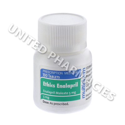 Ethics Enalapril (Enalapril Maleate) - 5mg (100 Tablets)