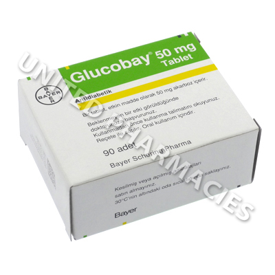 Glucobay (Acarbose) - 50mg (90 Tablets)(Turkey)