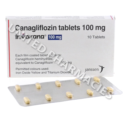 Invokana (Canagliflozin) - 100mg (10 Tablets) - United