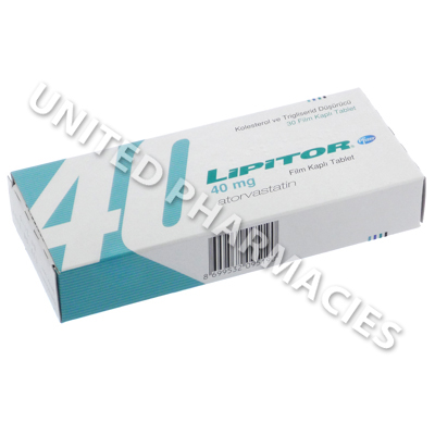 Lipitor (Atorvastatin Calcium) - 40mg (30 Tablets)(Turkey)