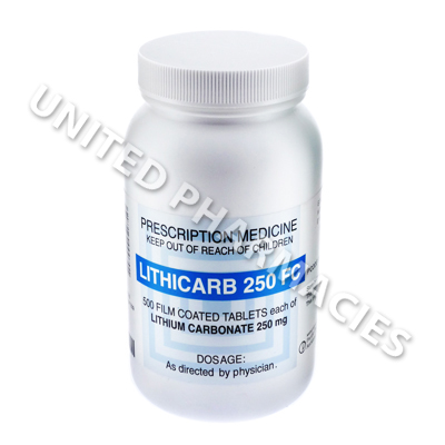 Lithicarb (Lithium Carbonate) - 250mg (500 Tablets)