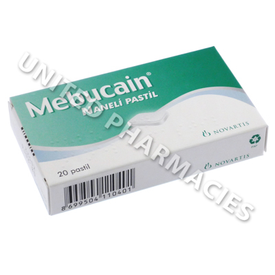 Mebucain Mint (Lidocaine HCL/Cetylpyridinium Chloride) - 1mg/2mg (20 Lozenges)