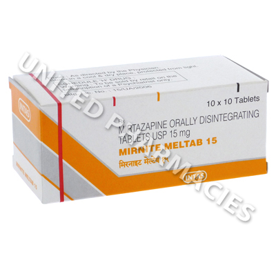 Mirnite Meltab 15 (Mirtazapine) - 15mg (10 Tablets)
