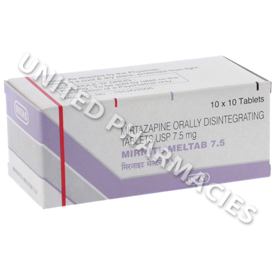 Mirnite Meltab-7 5 (Mirtazapine) - 7 5mg (10 Tablets