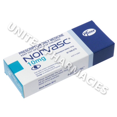 Norvasc (Amlodipine Besylate) - 10mg (30 Tablets)