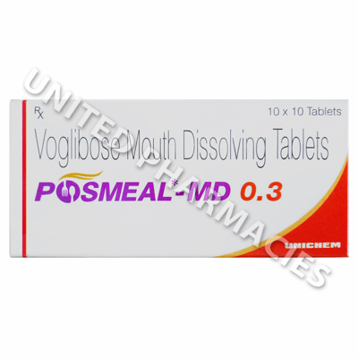 Posmeal MD (Voglibose) - 0.3mg (10 Tablets)