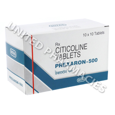 Prexaron 500 (Citicoline) - 500mg (10 Tablets)