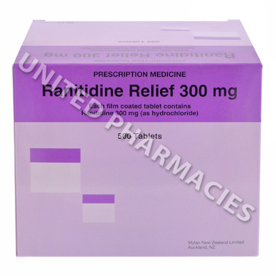 Ranitidine Relief (Ranitidine Hydrochloride) - 300mg (500 Tablets)