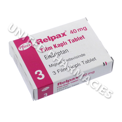 Relpax (Eletriptan) - 40mg (3 Tablets)