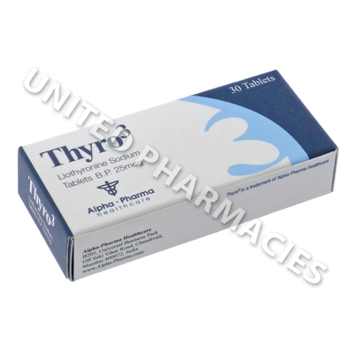 Thyro3 (Liothyronine Sodium) - 25mcg (30 Tablets)