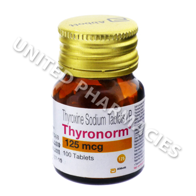 Thyronorm Thyroxine Sodium 125mcg 100 Tablets United