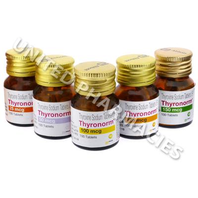 Thyronorm Thyroxine Sodium 25mcg 100 Tablets United Pharmacies Uk