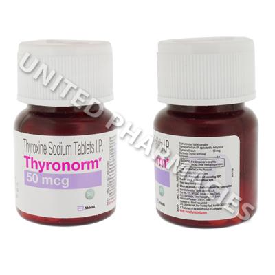 Thyronorm Thyroxine Sodium 50mcg 120 Tablets United Pharmacies Uk
