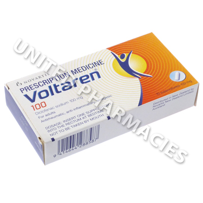 Voltaren Suppositories (Diclofenac Sodium) - 100mg (10 Suppositories)