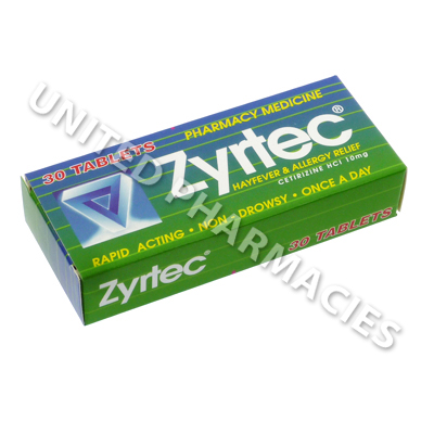 Zyrtec (Cetirizine) - 10mg (30 Tablets)