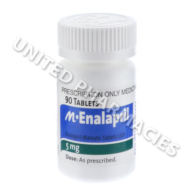 M-Enalapril (Enalapril Maleate) - 5mg (90 Tablets)